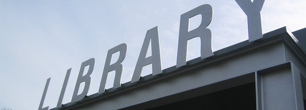 Laser Cut Metal Letters Plympton Library