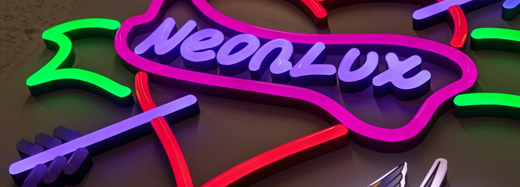 Faux neon LED sign